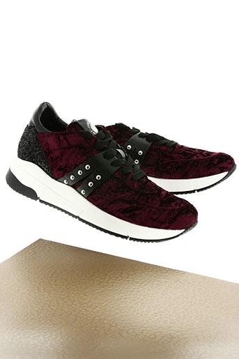 janet sport chaussures femme de couleur rouge