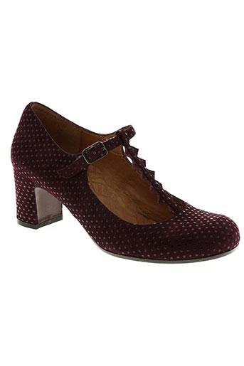 anaki chaussures femme de couleur rouge