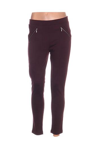 b.young pantalons femme de couleur violet