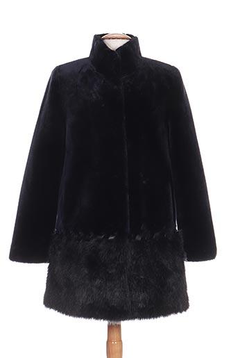 lauren vidal manteaux femme de couleur bleu