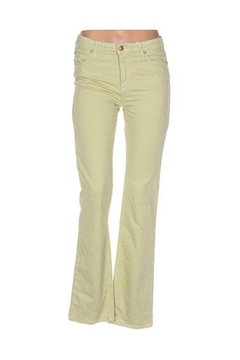 votre nom pantalons femme de couleur jaune