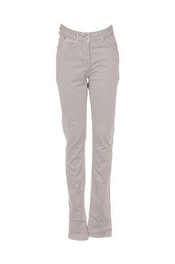 Pantalon casual beige SANDWICH pour femme