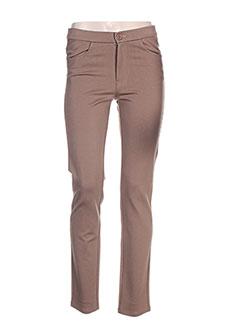 Pantalon casual marron BARILOCHE pour femme