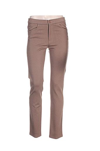 bariloche pantalons femme de couleur marron