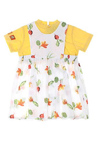 catimini robes fille de couleur jaune