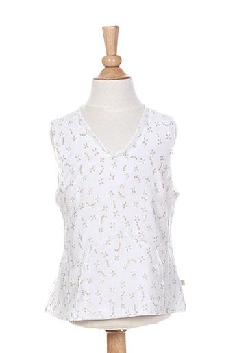 jean bourget chemises fille de couleur blanc