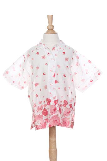 floriane chemises fille de couleur rose