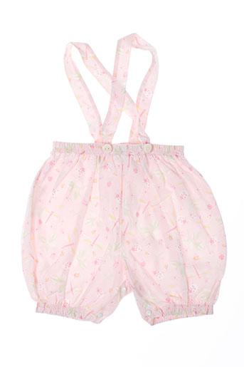 les bebes de floriane shorts / bermudas fille de couleur rose