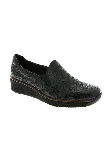 rieker chaussures femme de couleur noir