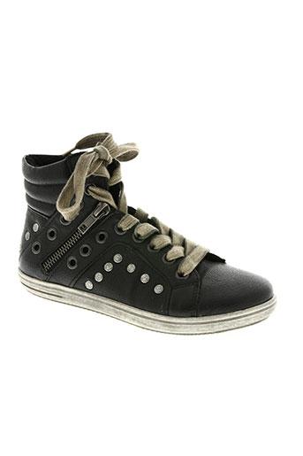 rieker chaussures garçon de couleur noir
