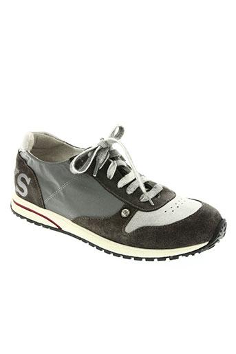 ikks junior chaussures fille de couleur gris