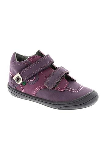 kickers chaussures fille de couleur violet