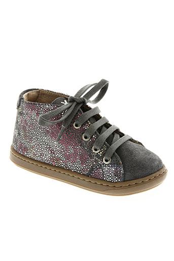 shoo pom chaussures fille de couleur gris