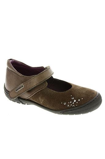 hispanitas chaussures fille de couleur marron