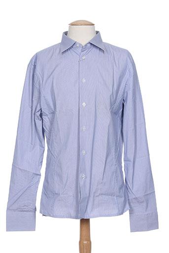 bikkembergs chemises homme de couleur bleu