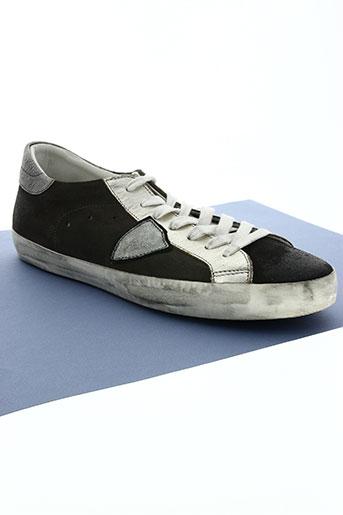 philippe model chaussures homme de couleur gris