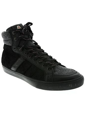 moncler chaussures homme de couleur noir