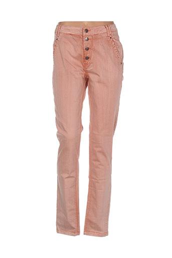 imitz pantalons femme de couleur orange