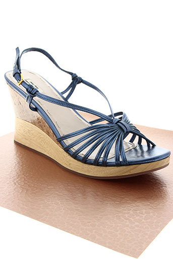 miu miu chaussures femme de couleur bleu