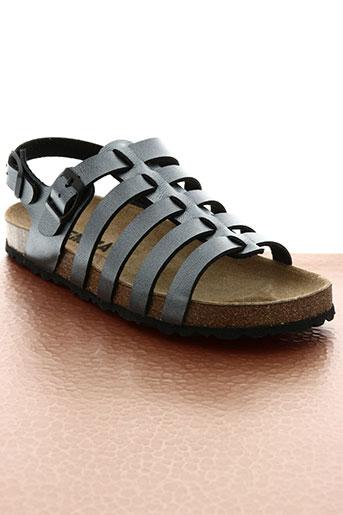 emma chaussures fille de couleur gris