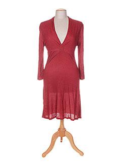 Robe mi-longue rouge BAKKER pour femme