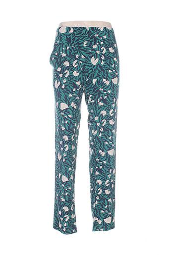 skunkfunk pantalons femme de couleur vert
