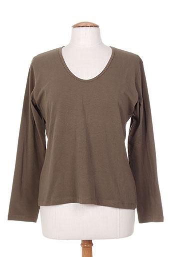lauren vidal t-shirts femme de couleur vert
