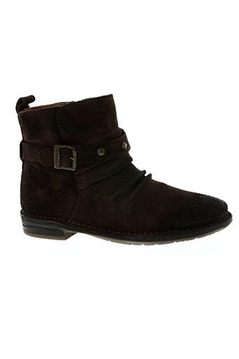 kickers chaussures fille de couleur marron