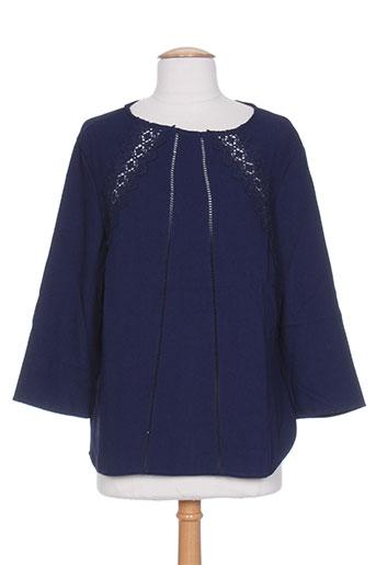 kilibbi chemises femme de couleur bleu