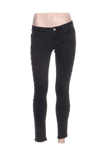 relish jeans femme de couleur noir
