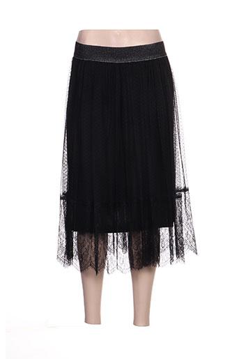 Jupe mi-longue noir ARTIGLI pour femme