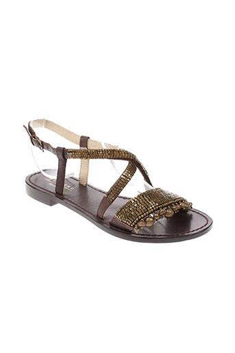maxmara chaussures femme de couleur marron