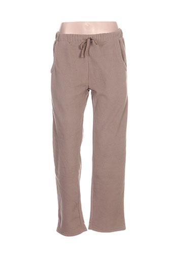 mxo pantalons femme de couleur beige