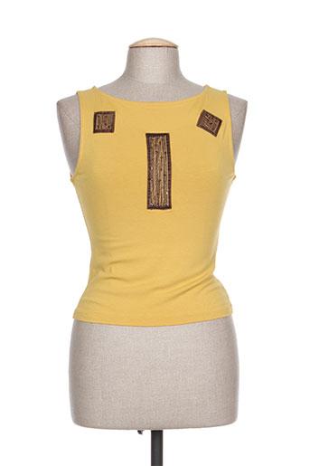 coco menthe chemises femme de couleur jaune