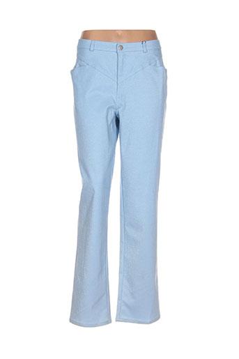 rosa rosam pantalons femme de couleur bleu