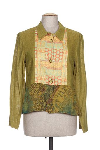 coco menthe chemises femme de couleur vert