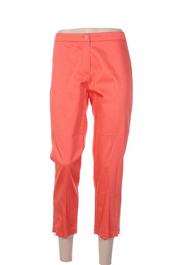andamio pantacourts femme de couleur orange