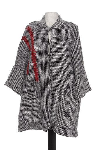 maloka manteaux femme de couleur gris