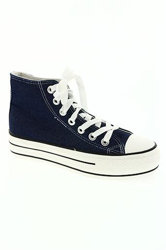 ruiniao chaussures femme de couleur bleu