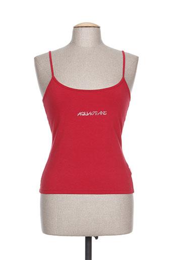 aquajeans chemises femme de couleur rouge