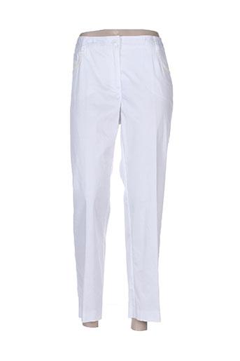 fuego woman pantalons femme de couleur blanc