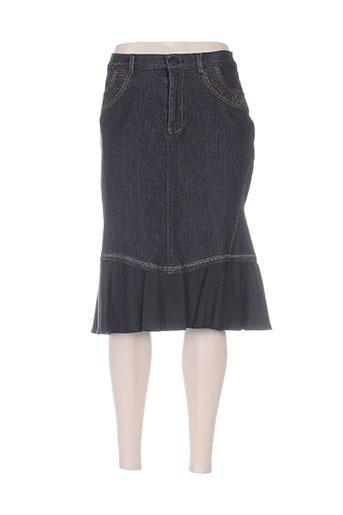 Jupe mi-longue bleu AQUAJEANS pour femme
