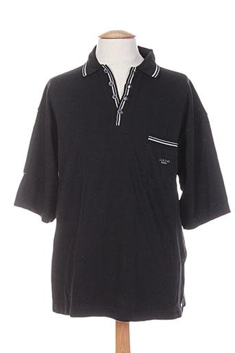 Polo manches courtes noir GAPSTAR pour homme