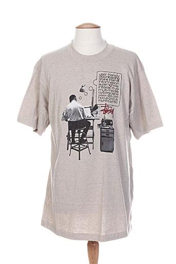 stussy t-shirts / tops homme de couleur beige