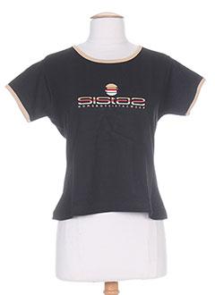 T-shirt manches courtes noir HOMEBOY pour femme