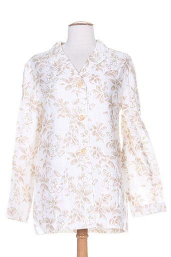 ernest chemises femme de couleur blanc