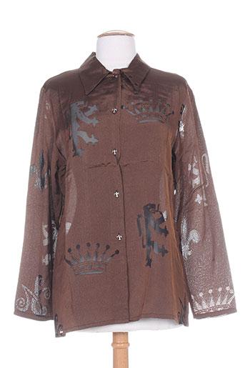 nathalie chaize chemises femme de couleur marron