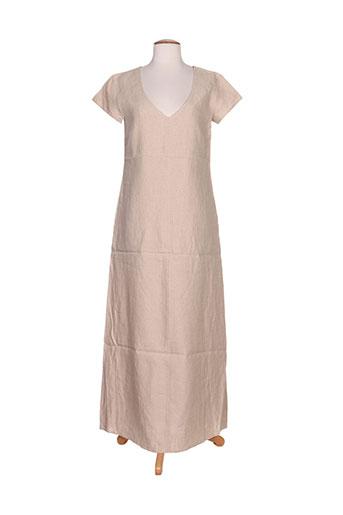 ernest robes femme de couleur beige