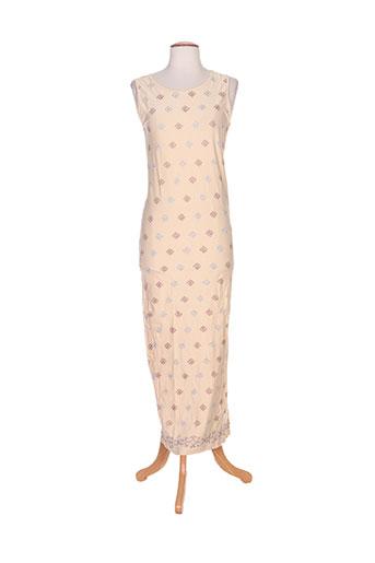 poupoupidou robes femme de couleur beige