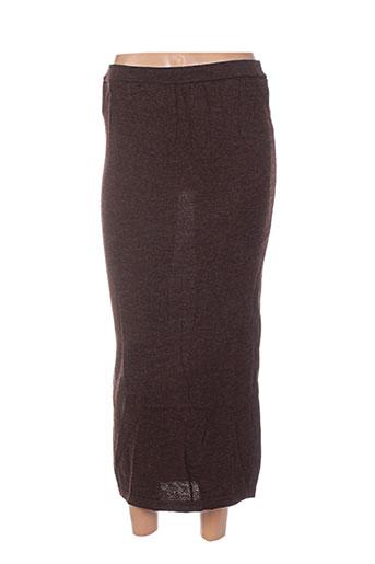 maille street jupes femme de couleur marron
